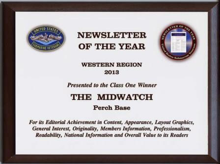 USSVI National Award 2013 Newsletter of the Year