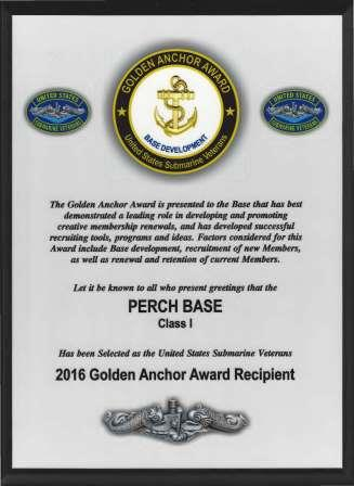 Convention 2016 Golden Anchor Award