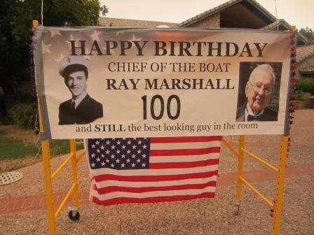 August 2020 Ray Marshall 100th Birthday Drive-By