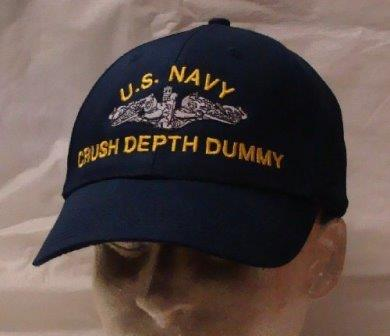 Crush Depth Dummy hat, courtesy of SubmarineGear.com.