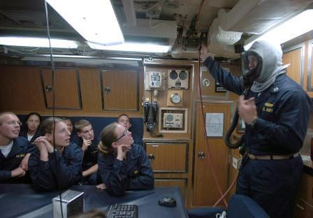 An EAB usage demonstration on board the USS Helena (SSN-725)